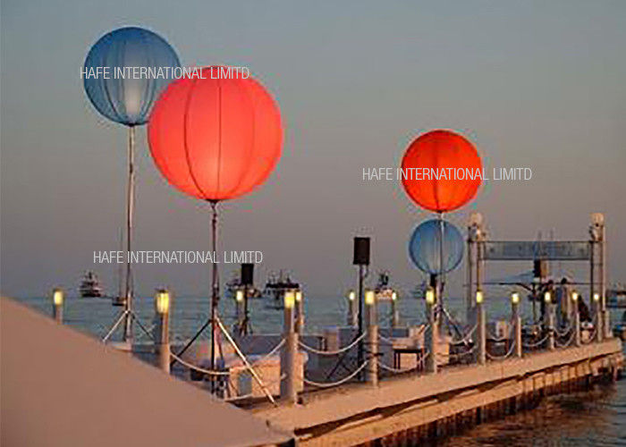Single RGB Inflatable Led Light Color Changing , Events Lighting Balloon Led Lantern Lights