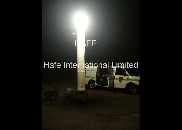 Security Lighting Prism Inflatable Light Tower , HMI 1000W Inflatable Pillar Column Balloon